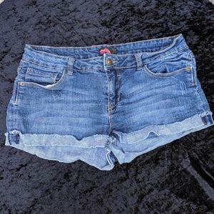 Forever 21 Classic Blue Denim Cuffed Shorts